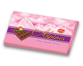 barra de chocolate alpines zumrut