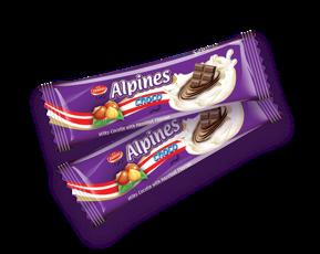 barra de chocolate alpines choco zumrut