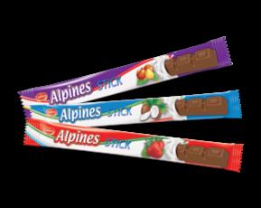 barra de chocolate alpines stick zumrut fresa coco avellana